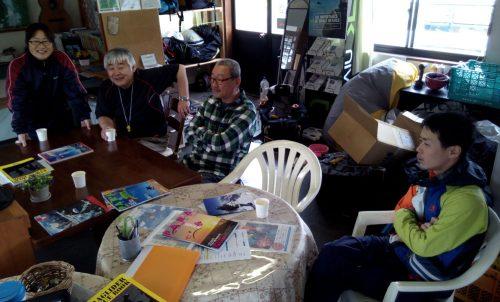 去年も来られた札幌のご夫婦。山頂の山菜取りでお越しいただき、お土産に手作りのシフォンケーキをいただきました!
