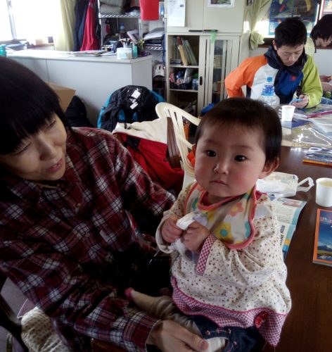 お昼は、名和さん。小山さんが奥さんと竜生君と一緒に遊びに~。