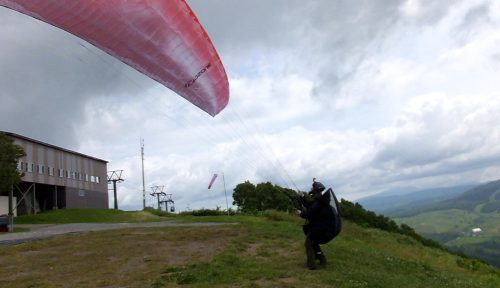 2本目は南風しっかり!でもルスツリゾート方面に黒めの雲が!