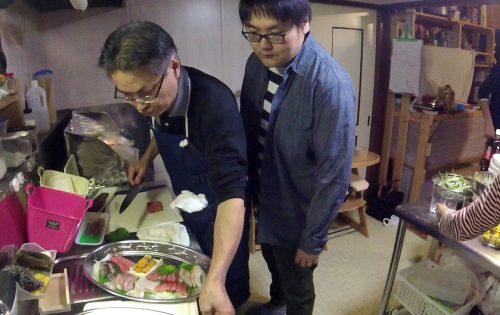 橘井さんからお刺身盛り合わせをご提供いただきました!