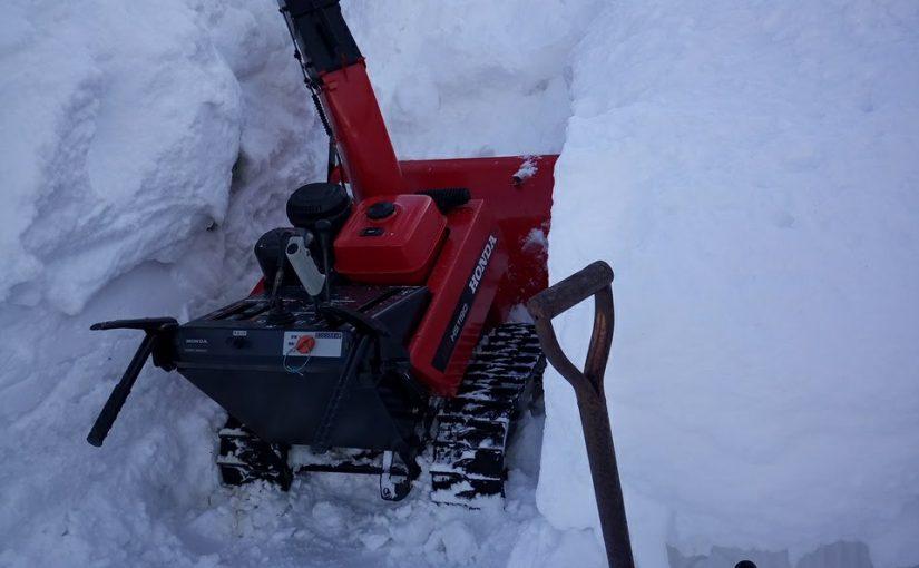 除雪機トラブル