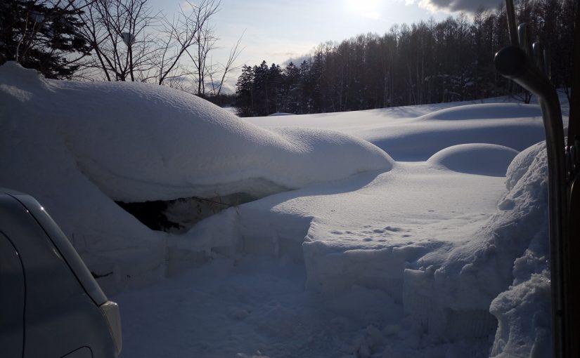 赤井川の積雪