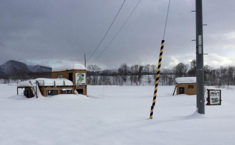 クラブハウスの雪下ろし