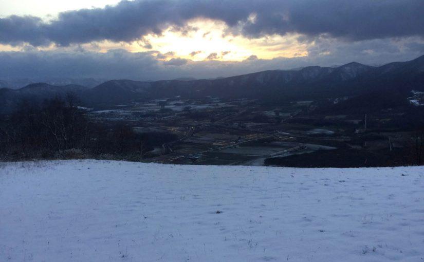 11/21(水) 赤井川もやっとで初雪